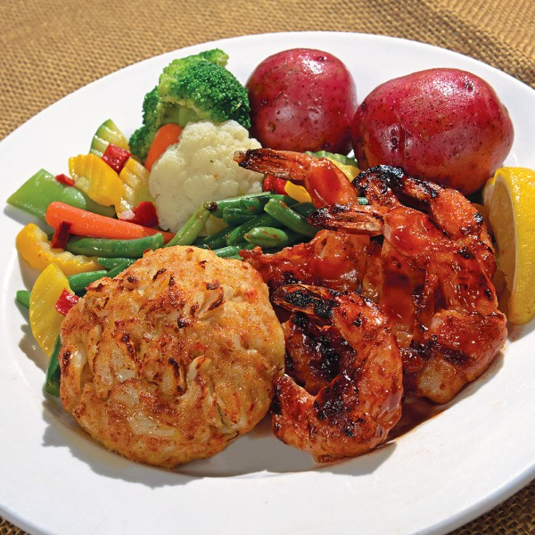 BBQ Shrimp and Crab Cake