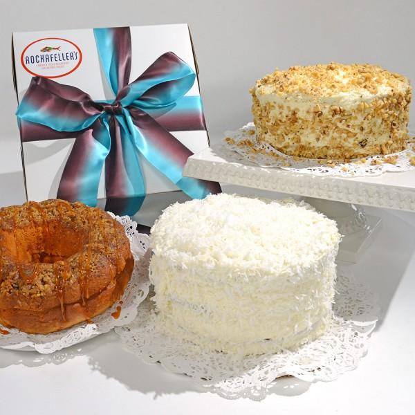 Key Lime Pie • Chocolate Eclair Pie • Coconut Cake • Carrot Cake • Rum Cake • Pumpkin Pie Cake*