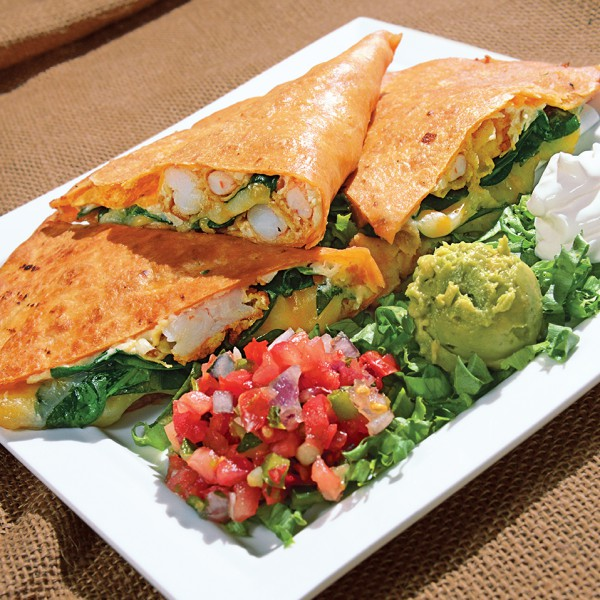 Shrimp and Crab Quesadilla