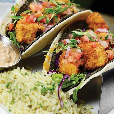 Double Decker Fish Tacos