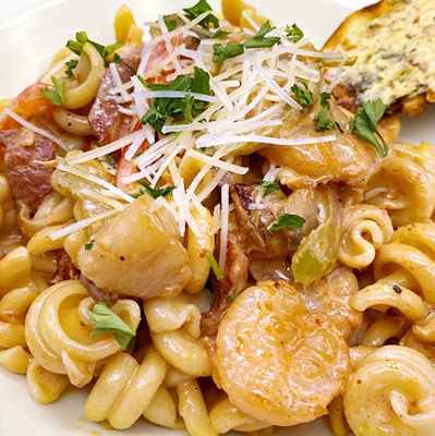 Rock's Bayou Seafood Pasta